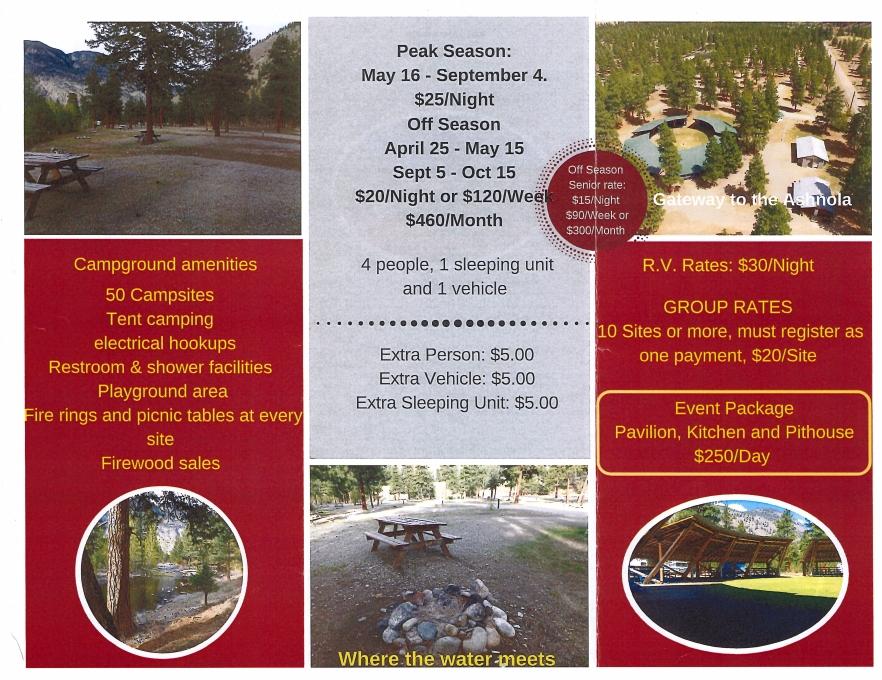 Campground Brochure 2017